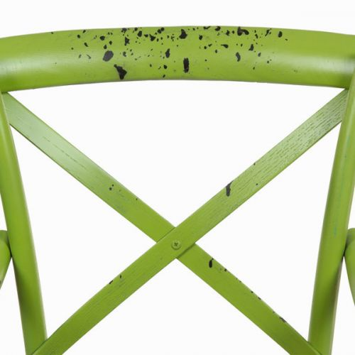 Green wooden chair with arms green by Craftenwood